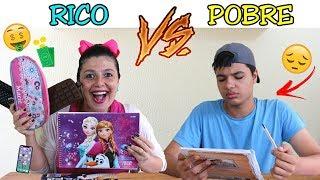 RICO VS POBRE NA ESCOLA - Anny e Eu