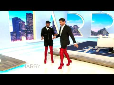 Todrick Hall Teaches Harry Connick Jr How To Walk In Kinky Boots
