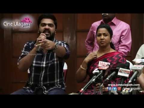 Simbu  Radhika and Urvashi at Nadigar Sangam Election Press Meet