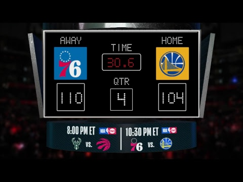 Video: Stay up to date with the 76ers @ Warriors LIVE scoreboard and catch all the action on #NBAonTNT!