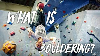 What is Bouldering Rock Climbing + Climbing at the Cave by This is Eric
