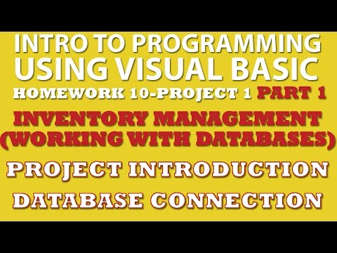 VB.net Programming Challenge 10-1: Inventory Management Part 1 (VB.net working with Databases)