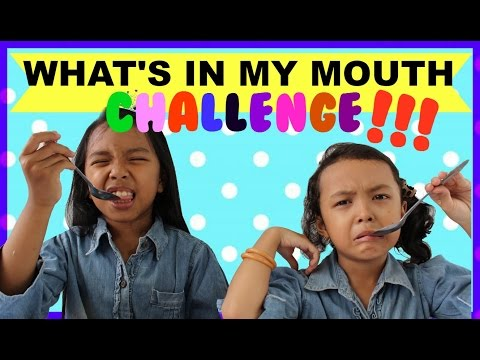 WHAT'S IN MY MOUTH CHALLENGE | Indonesia ♥ Kids Edition