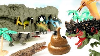 Video Dinosaurs are Dangerous! Let's throw a Bomb & Poo to a Giant Crocodile and Win! Dinosaur Mini Movie~ MP3, 3GP, MP4, WEBM, AVI, FLV Maret 2018