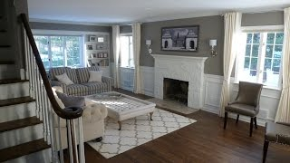 Colonial home renovation - Before and after