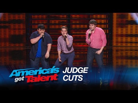 "Triple Threat: Nerdy College Guys Cover ""Problem"" by Ariana Grande - America's Got Talent 2015"