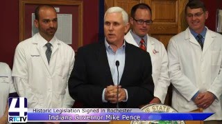 Governor Pence Honors Harry Webb et al