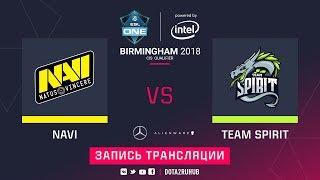 Natus Vincere vs Spirit, ESL One Birmingham CIS qual, game 1 [Maelstorm, Inmate]