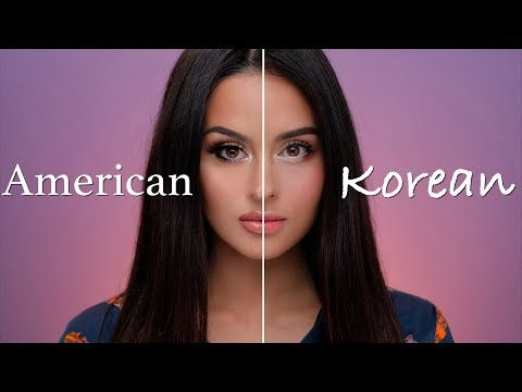 American VS Korean Makeup Tutorial (видео)