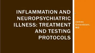 Inflammation and Neuropsychiatric Illness  Treatment and Testing Protocols by Dr  James Greenblatt