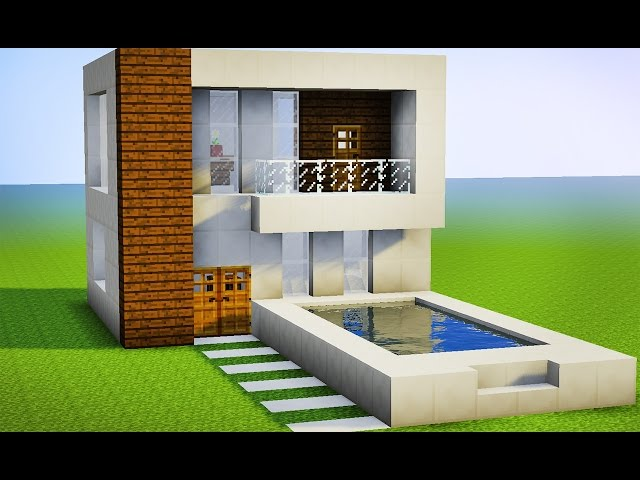 Minecraft como fazer sua primeira casa moderna pequ for Casa moderna minecraft design