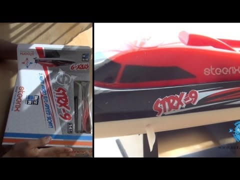 RC - Unboxing my STRX-9 from Steerix, the Mini RC speed boat, with Field Charger, Nimh Battery, Transmitter,