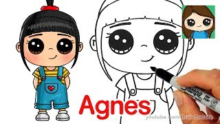 Follow along to learn how to draw cute Agnes step by step easy from Despicable Me. This cute girl and her minions steal the show! Art for kids, drawing lesson tutorial.Thanks for watching!! Please LIKE, COMMENT, and SHARE. =) Thank You!!!★Learn How to Draw the EASY, Step by Step Way while having fun and building skills and confidence. Learning videos for children of all ages.★Drawing Tutorials on everything from Celebrities (Ariana Grande, Taylor Swift, Meghan Trainor, Demi Lovato, etc), Cartoon Food and Drinks (Hot Dog, Starbucks, etc), Desserts (Ice Cream, Cupcake, Marshmallow, etc), Fruit, Cartoon Animals (Penguin, Fox, Panda, etc), Characters from 3D movies (Minions, Frozen, Finding Dory, Zootopia, etc) , Games (Minecraft, Angry Bird, etc), TV shows (Descendants, Disney, Cartoon Network characters, etc.) , Toys (Shopkins, NumNoms, etc) and Everyday Objects (school supplies, etc) can all be found here at Draw So Cute! ★You can learn how to color with markers, color pencils and much more. Coloring pages. ★FUN ART CHALLENGES, DIY's and Coloring Pages and Activities can also be found here!★Easy, simple follow along drawing lessons for kids or beginners. Fun, Cute art for kids! ★Celebrate Mother's Day, Father's Day, Christmas, Valentines, New Years, Birthdays, etc. with Cute drawings just for the occasion!Enjoy Art and have fun being creative and becoming an artist! ❤❤SUBSCRIBE: http://www.youtube.com/channel/UC3dEvA1is6-0_yuei9iCdEw?sub_confirmation=1-Website: Download FREE coloring pages and crafts: http://www.drawsocute.com -Facebook: http://www.facebook.com/drawsoocute-Instagram: https://instagram.com/drawsocutebywennie/Have a GREAT day and see YOU later! :)