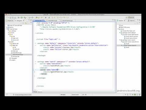 Struts 2 Tutorial 12 – Action Wildcards | Java Brains