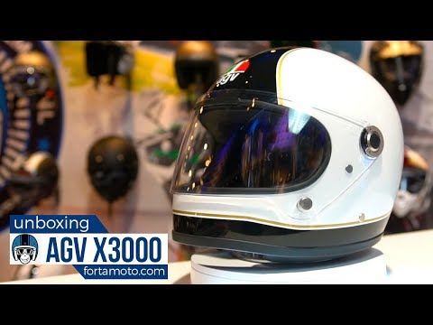 Unboxing the AGV X3000 retro motorcycle helmet + review   FortaMoto.com