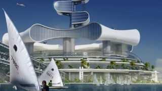 Футуристический отель на воде (Grand Cancun)