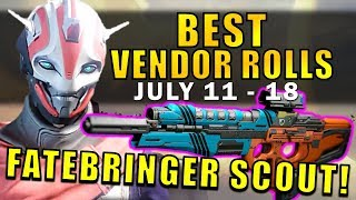 Showcasing the best Weapon Rolls for the Tower Vendors this week (July 11th - 18th)!The highlight this week is the Hero Formula Scout Rifle that has Fatebringer Perks! The Crucible and Vanguard Quartermasters, Dead Orbit, Future War Cult, and New Monarchy all have weapon rolls you should definitely check out to get some of the best weapons for PvE and PvP! And they will now have rotating perks every weekly reset with the Age of Triumph!--- Official Merch: https://shop.bbtv.com/collections/kackishd--- My Twitter: https://twitter.com/RickKackis--- My Twitch Channel: http://www.twitch.tv/kackishd/profile