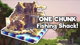 Minecraft: Beach Fishing Shack in ONE CHUNK! [Tutorial]
