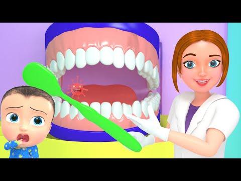 Baby Dental Care Song   Brush Teeth Twice   3D Doctor Nursery Rhymes & Kids Songs
