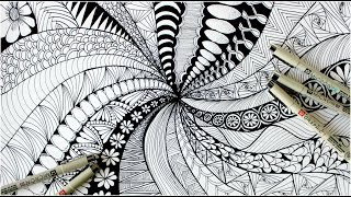 Video Zentangle art    Doodle patterns    Zen-doodle MP3, 3GP, MP4, WEBM, AVI, FLV Desember 2018