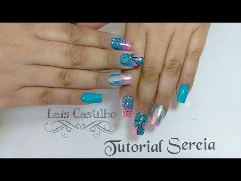 Unhas decoradas muito fácil da sereia Laís Castilho