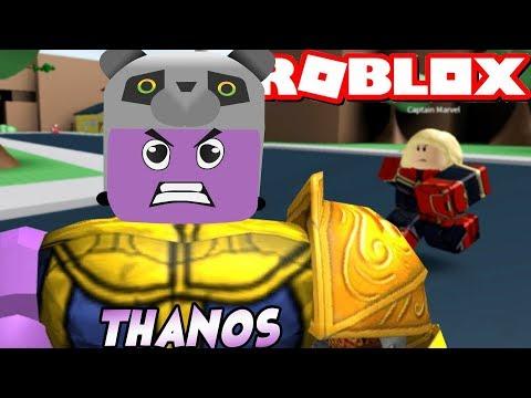 THANOS OLDUK!! Süper Kahramanlar Peşimizde - Panda ile Roblox Thanos Simulator