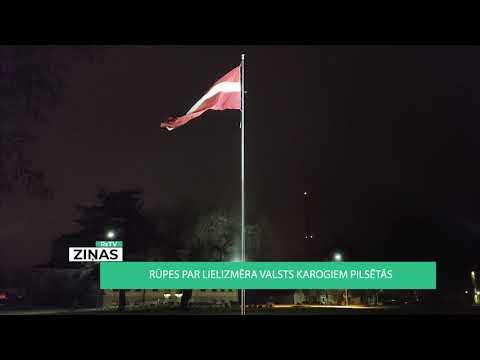 Rūpes par lielizmēra karogiem valsts pilsētās