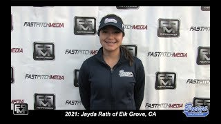 2021 Jayda Rath Softball Outfield and Second Base Skills Video - CA Breeze