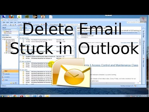 Delete Email stuck in Outlook Outbox