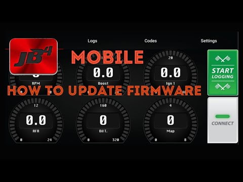 How to update JB4 firmware using the JB4 Mobile app