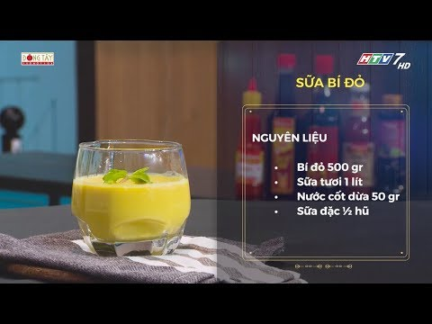 Công thức món sữa bí đỏ thơm ngon bổ dưỡng | Khi Chàng Vào Bếp - Mùa 2 - Thời lượng: 63 giây.