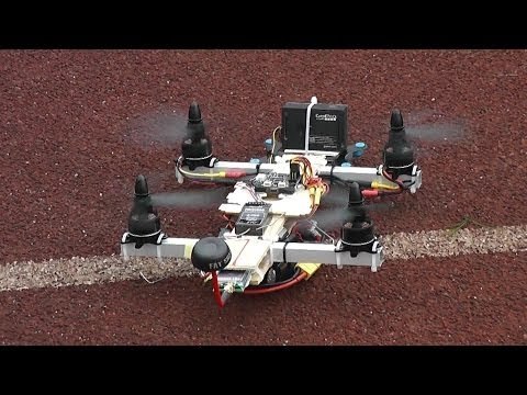 Home made FPV Arachnid Copter Testing 4S battery (видео)