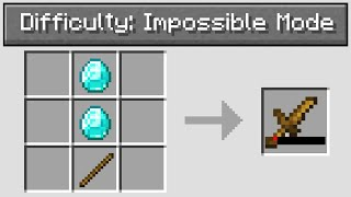 """Minecraft UHC but with """"impossible mode"""" difficulty.."""