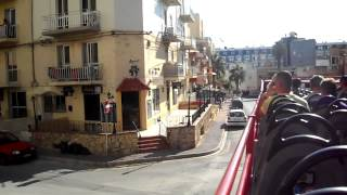 St Pauls Bay Malta  City pictures : 20: Malta Sightseeing Bus in Buġibba / St. Pauls Bay - 24th August 2015 (08:44)