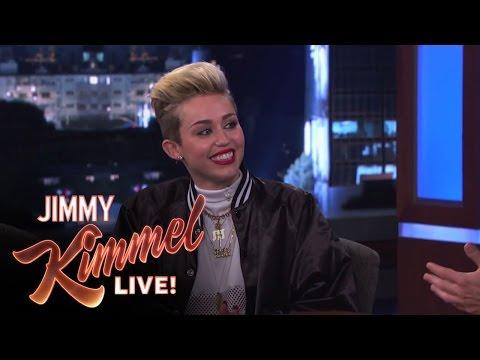 Miley Cyrus on Jimmy Kimmel Live PART 1
