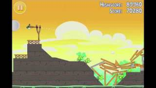 Angry Birds Seasons Go Green, Get Lucky 3 Star Walkthrough Level 14
