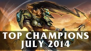 Top Played League Champions (July 2014) | League of Legends