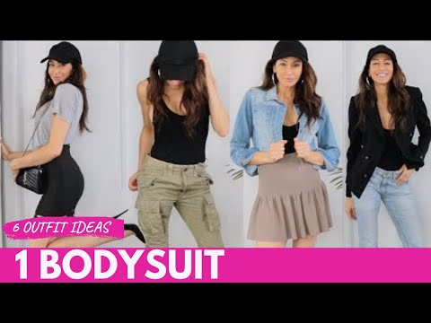 How to STYLE BODYSUITS - 6 DIFFERENT OUTFITS!