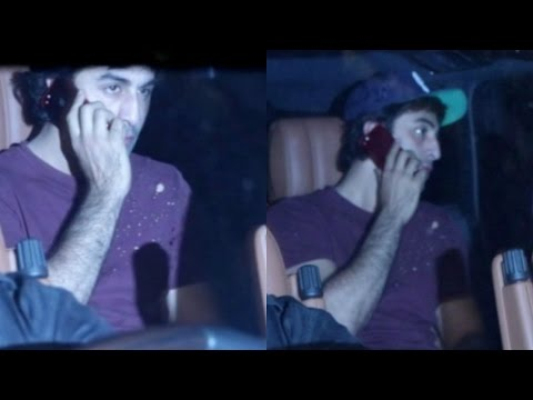 Ranbir Kapoor Spotted At Vidhu Vinod Chopra  House