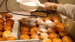 JewishByte Chanukah video of The Making of Sufganiot @ Parisers Bakery in Baltimore  Happy Chanukah!