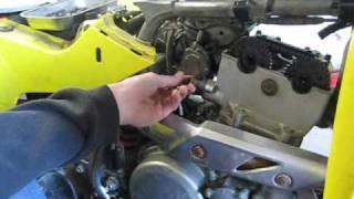 10. suzuki ltz 400 cylinder head removal