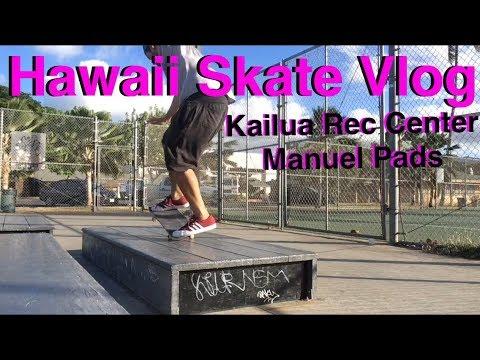 Manuel Pads at Kailua Rec Center Skatepark | Skate Persistence | Skate Vlog | Skate Hawaii
