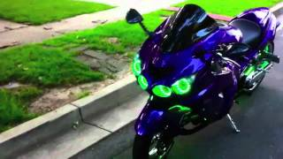 10. ORACLE ColorSHIFT LED Lighting Package installed on Kawasaki ZX-14 Sportbike by Fabs Custom