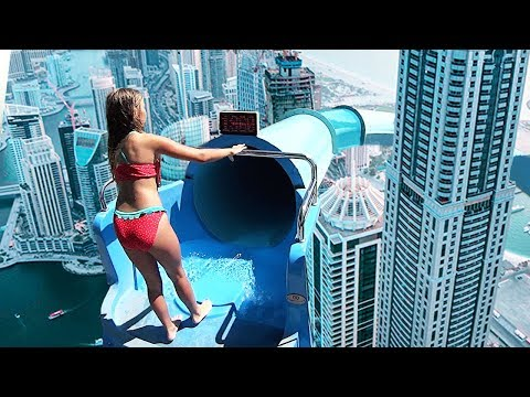 Top 10 TALLEST WATERSLIDES IN THE WORLD! (видео)