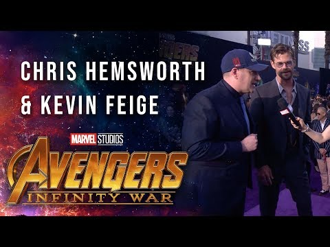 Vengadores: Infinity War - Chris Hemsworth and Kevin Feige Live at the Avengers:Infinity War Premiere?>