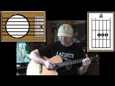 Oh, Pretty Woman - Roy Orbison - Acoustic Guitar Lesson (easy-ish)