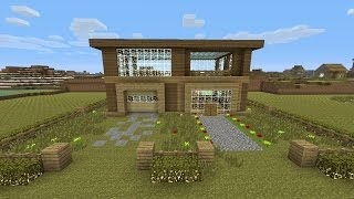 Minecraft Tutorial: How To Make An Awesome Wooden Survival House #3 (ASH#11)