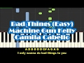 Machine Gun Kelly & Camila Cabello - Bad Things Easy Piano Tutorial
