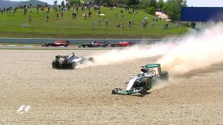 Rosberg And Hamilton Collide   Spanish Grand Prix 2016
