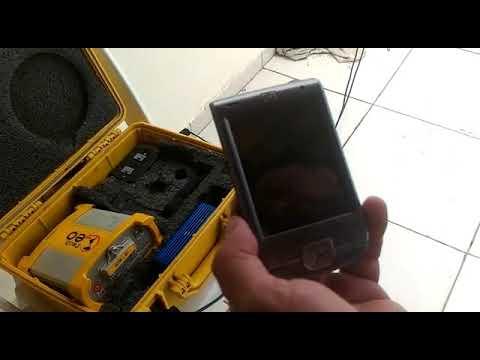(RTK) iPaq HP funcionando como coletora para GPS GTR-G2 com sistema RTK